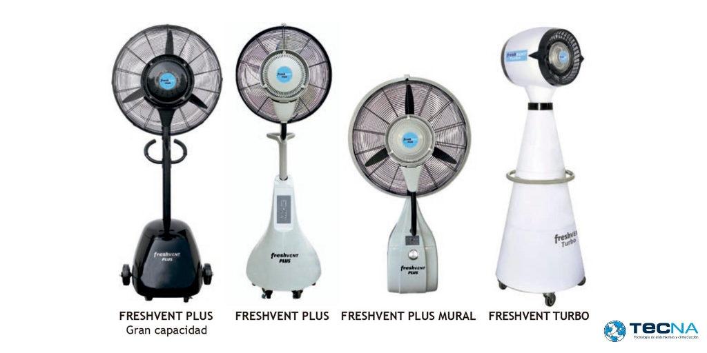 Refresca tu terraza con los nuevos ventiladores nebulizadores de Tecna