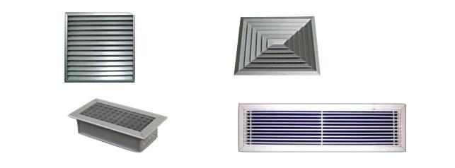 ¿Cuántos tipos de rejillas para aire acondicionado por conductos hay?