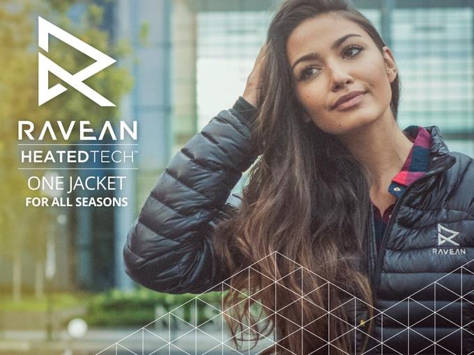 Ravean Down, la primera cazadora inteligente con calefacción y cargador de móvil